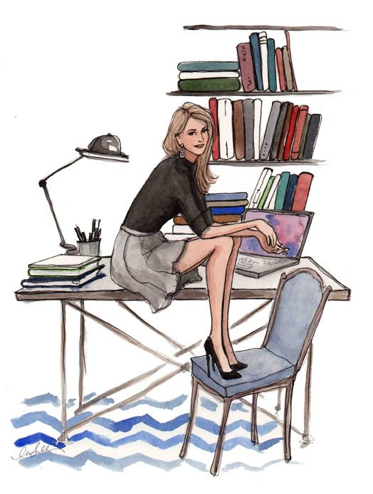 Жінка, ілюстрація, справи