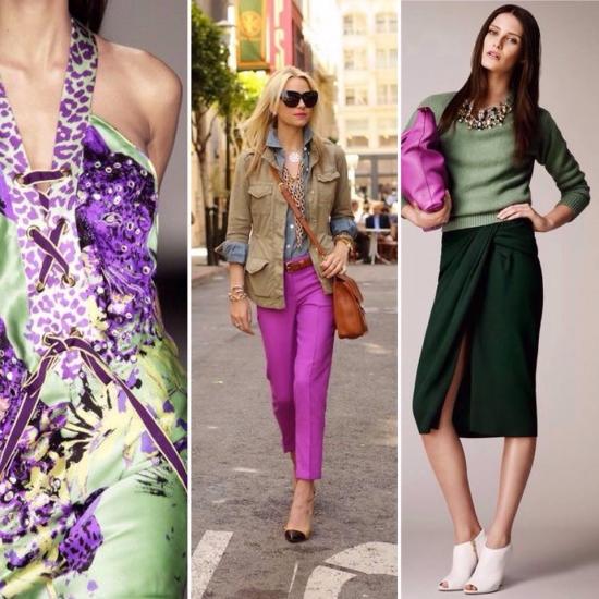Фіолетовий колір, фіолетові штани, спідниця