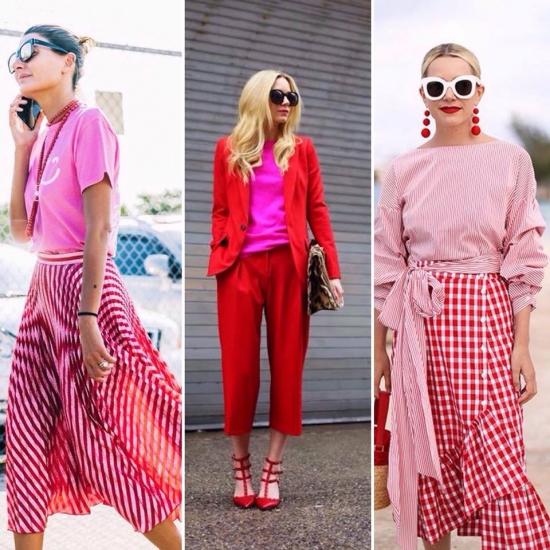Рожевий колір, спідниця, блузка