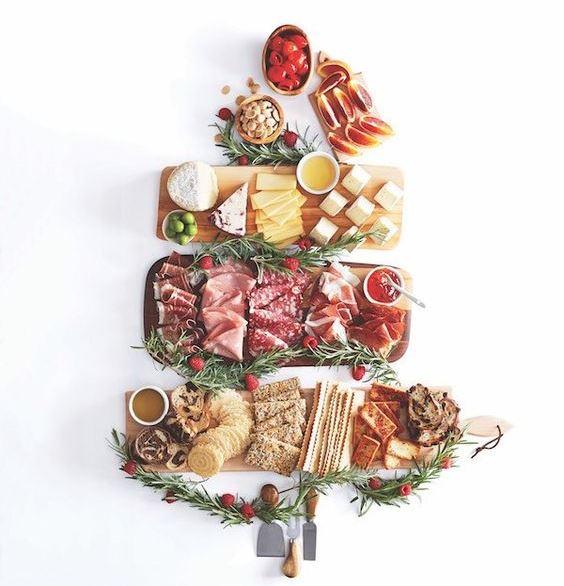 Новорічні страви, подачі страв, сервірування