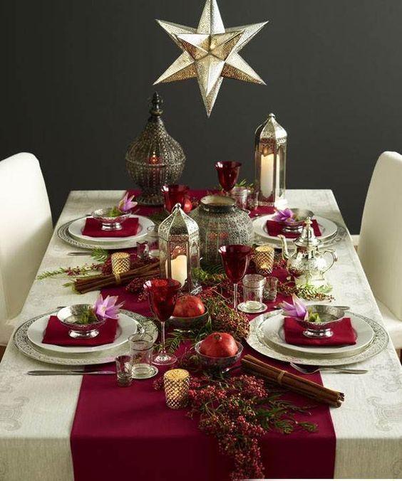 Різдвяний декор, сервірування столу