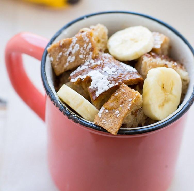 Сніданок у чашці, рецепт бананового тосту
