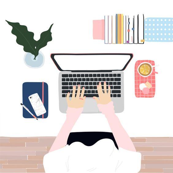 Робоче місце, робота за ноутбуком