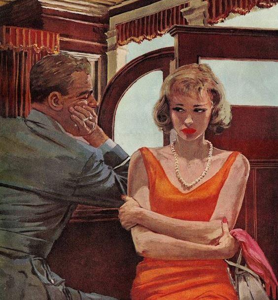чоловік і жінка біля барної стійки розмовляють
