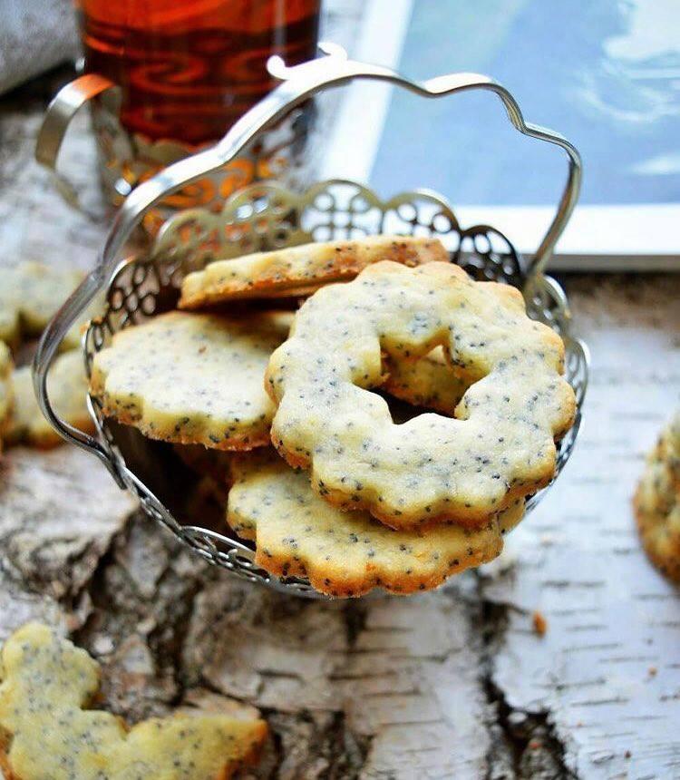 Пісочне лимонне печиво, печиво з маком