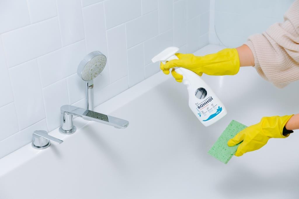 Засіб для миття ванної DeLaMark, екозасіб для прибирання