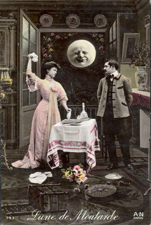 Вінтажний місяць, ідеї листівок з Місяцем