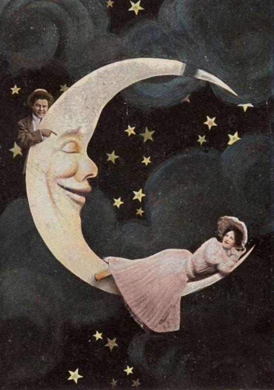 Фото у вінтажному стилі, паперовий Місяць